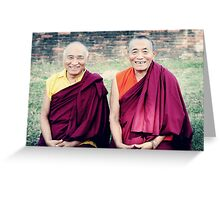 Venerable Khenpo Tsewang Dongyal Rinpoche and Venerable Khenchen Palden Sherab Rinpoche  Greeting Card