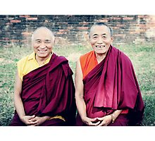 Venerable Khenpo Tsewang Dongyal Rinpoche and Venerable Khenchen Palden Sherab Rinpoche  Photographic Print