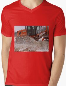 Workin' The Plow Mens V-Neck T-Shirt
