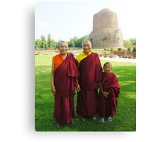 Venerable Khenchen Palden Sherab Rinpoche, Venerable Khenpo Tsewang Dongyal Rinpoche and Pema Canvas Print