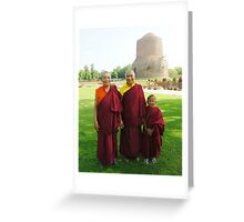 Venerable Khenchen Palden Sherab Rinpoche, Venerable Khenpo Tsewang Dongyal Rinpoche and Pema Greeting Card