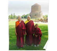 Venerable Khenchen Palden Sherab Rinpoche, Venerable Khenpo Tsewang Dongyal Rinpoche and Pema Poster