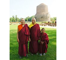 Venerable Khenchen Palden Sherab Rinpoche, Venerable Khenpo Tsewang Dongyal Rinpoche and Pema Photographic Print