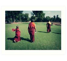 Pema, Venerable Khenchen Palden Sherab Rinpoche and Venerable Khenpo Tsewang Dongyal Rinpoche Art Print