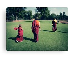 Pema, Venerable Khenchen Palden Sherab Rinpoche and Venerable Khenpo Tsewang Dongyal Rinpoche Canvas Print