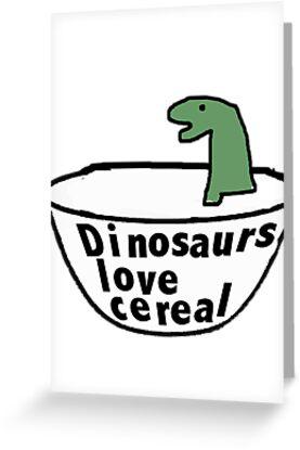 Kids dinosaur greeting card poster  by Scott Barker