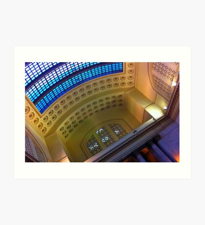 Ceiling, Union Station, Chicago Art Print