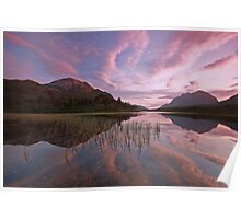 torridon reflections in the western highlands. Poster