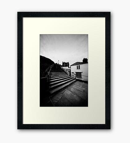 Whitby Steps Framed Print
