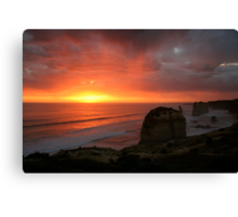 Sunset over 12 Aposles Canvas Print