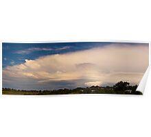 Storm cloud pano Poster