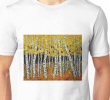 Aspen Grove  featuring Colorado Aspen Trees Painting Unisex T-Shirt