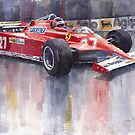 Ferrari 126C 1981 Monte Carlo GP Gilles Villeneuve by Yuriy Shevchuk