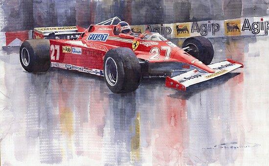 Ferrari 126C 1981 Monte Carlo GP Gilles Villeneuve by Yuriy Shevchuk
