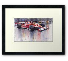 Ferrari 126C 1981 Monte Carlo GP Gilles Villeneuve Framed Print