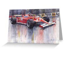 Ferrari 126C 1981 Monte Carlo GP Gilles Villeneuve Greeting Card