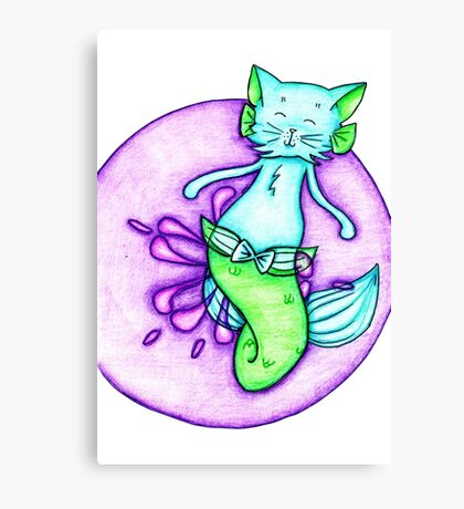 Blue and Green Catfish Canvas Print