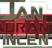Jan Quadrant Vincent 16 Sticker