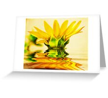 The Flow of Yellow Greeting Card