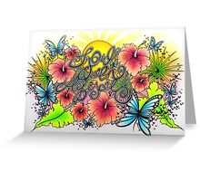 Snow Queen Hibiscus Greeting Card