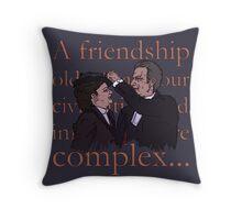 A friendship (navy blue) Throw Pillow