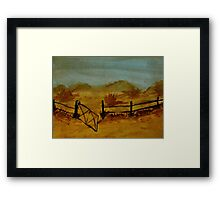 Opps Gate was Left Open! watercolor Framed Print