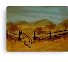 Opps Gate was Left Open! watercolor Canvas Print