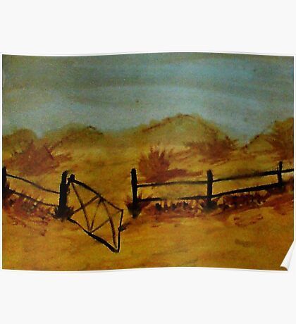 Opps Gate was Left Open! watercolor Poster