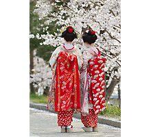 Geiko & Sakura 2 Photographic Print