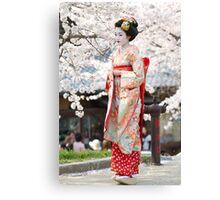 Geiko & Sakura 3 Canvas Print