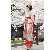 Geiko & Sakura 3 Photographic Print