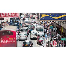 Hong Kong street view Photographic Print