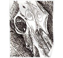 Deer Skull Poster