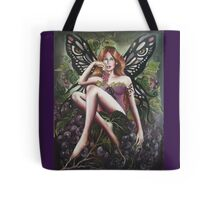 Autumn fall faerie fairy grapes,wine Tote Bag