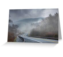 Winding Into the Mist Greeting Card