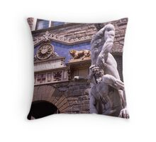 Statue, Hercules, Florence, Italy Throw Pillow
