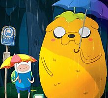 Adventure Time - My Neighbor Totoro by Optimistic  Sammich