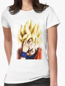 Dragon Ball Z - Goku super saiyajin 1 Womens Fitted T-Shirt