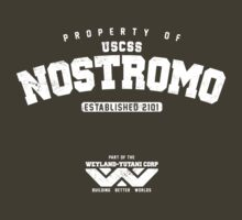 Property of USCSS Nostromo - white by KRDesign