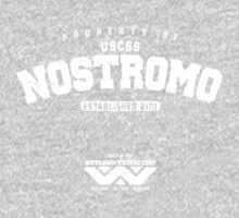 Property of USCSS Nostromo - white One Piece - Long Sleeve