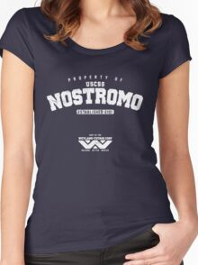 Property of USCSS Nostromo - white Women's Fitted Scoop T-Shirt