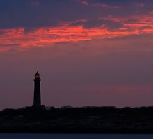 Thacher Island South Tower - Rocport Massachusetts by Steve Borichevsky