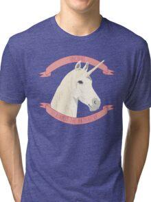 Unicorns Against the Patriarchy Tri-blend T-Shirt