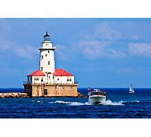 Chicago Harbor Lighthouse Photographic Print