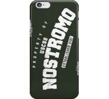 Property of USCSS Nostromo - black iPhone Case/Skin
