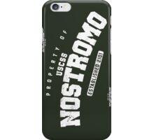 Property of USCSS Nostromo - black iPhone Case/Skin