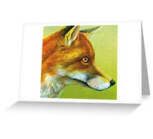 Portrait of a fox Greeting Card