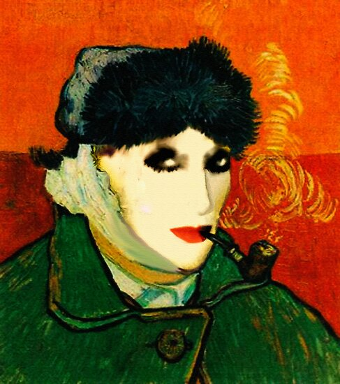 MyFunnyGallery (Selfportrait : Photomontage with total disapproval of VanGogh) by anaisanais