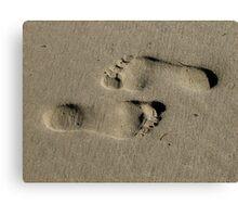 Sandy Feet - Santa Barbara Canvas Print