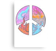 Peace - Four Elements  Canvas Print
